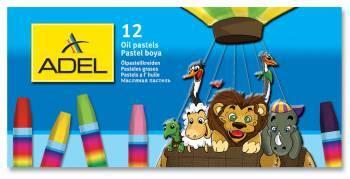 Масляная пастель Adel Colour 12 цветов (428-0837-000)