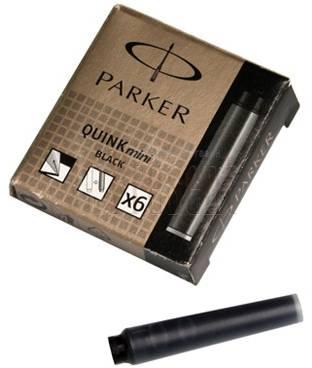Картридж Parker Quink Z17 MINI черный чернила (6шт) (S0767220)