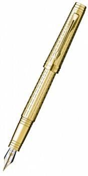 Ручка перьевая Parker Premier DeLuxe F562 Chiselling GT (S0887930)