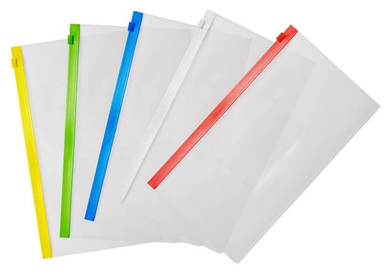 Папка на молнии ZIP Бюрократ BPM6Ared А6 карман под визитку ПП пластик 0.15мм красная молния - фото 3