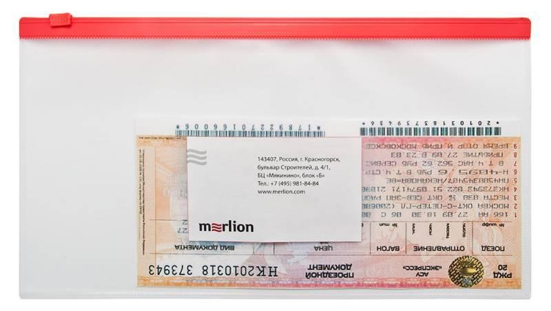 Папка на молнии ZIP Бюрократ BPM6Awt А6 карман под визитку ПП пластик 0.15мм белая молния - фото 2