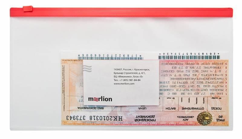 Папка на молнии ZIP Бюрократ BPM6Ayel А6 карман под визитку ПП пластик 0.15мм желтая молния - фото 2