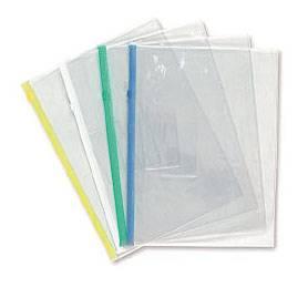 Папка на молнии ZIP Бюрократ PM5B В5 карман под визитку ПВХ пластик 0.18мм ассорти - фото 1
