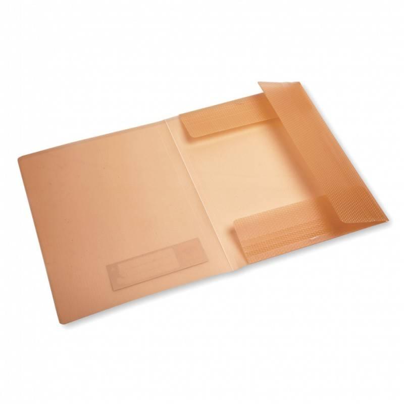 Папка на резинке Бюрократ CRYSTAL CR510 А4 пластик 0.5мм корешок 30мм ассорти - фото 3