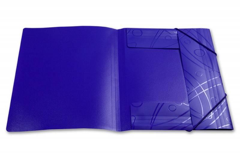 Папка на резинке Бюрократ GALAXY GA510blck А4 пластик 0.5мм корешок 30мм черный - фото 3