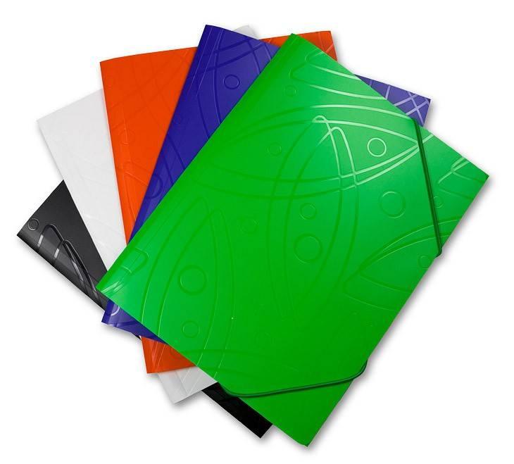 Папка на резинке Бюрократ GALAXY GA510wt А4 пластик 0.5мм корешок 30мм белый - фото 1