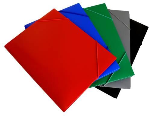 Папка на резинке Бюрократ PR04 А4 пластик 0.4мм корешок 15мм ассорти - фото 1