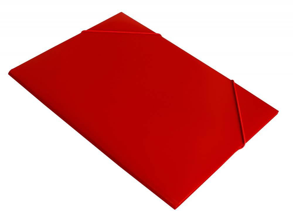 Папка на резинке Бюрократ PR04red А4 пластик 0.4мм корешок 15мм красный - фото 1