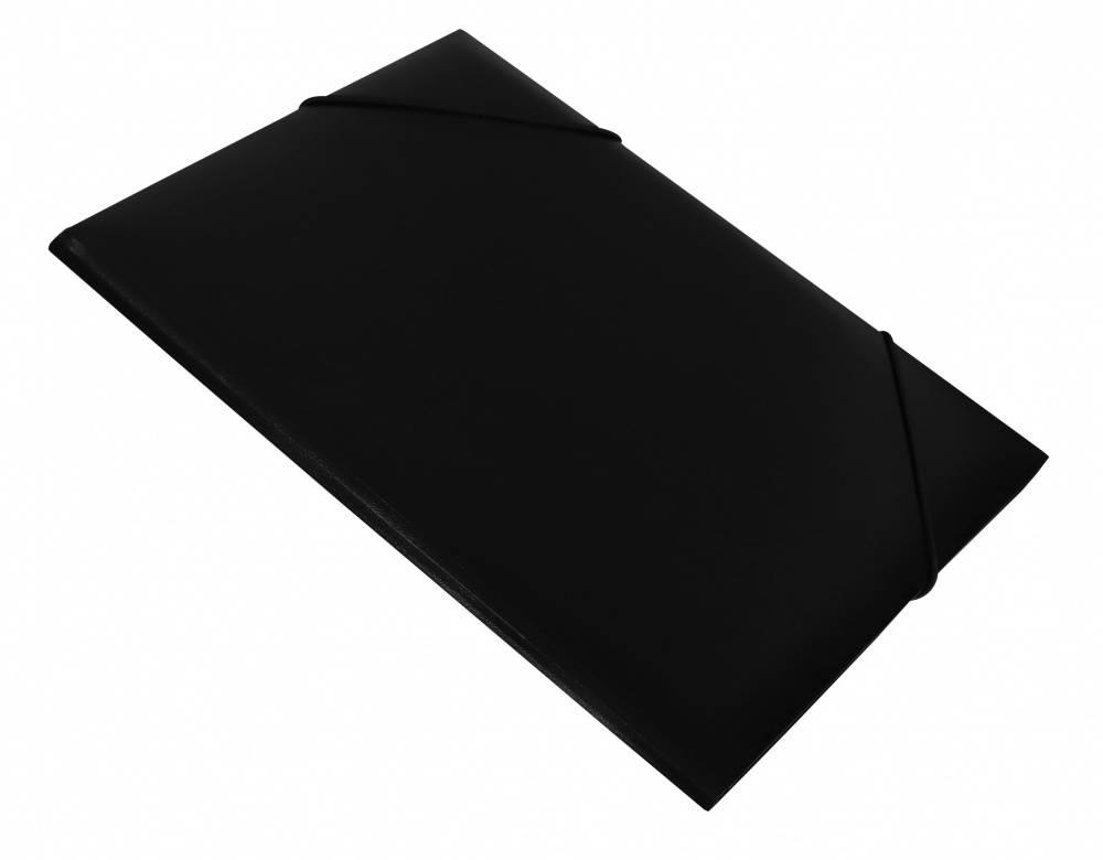 Папка на резинке Бюрократ PR05blck А4 пластик 0.5мм корешок 30мм черный - фото 1