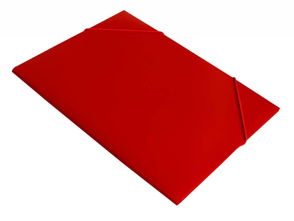 Папка на резинке Бюрократ PR05red А4 пластик 0.5мм корешок 30мм красный - фото 1