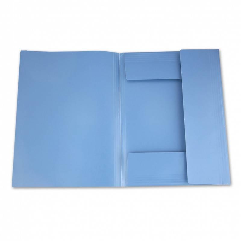 Папка на резинке Бюрократ PRA3 А3 пластик 0.5мм ассорти - фото 4