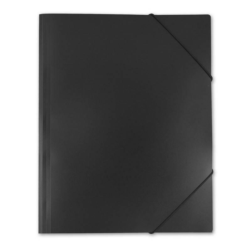 Папка на резинке Бюрократ PRA3blck А3 пластик 0.5мм черный - фото 2