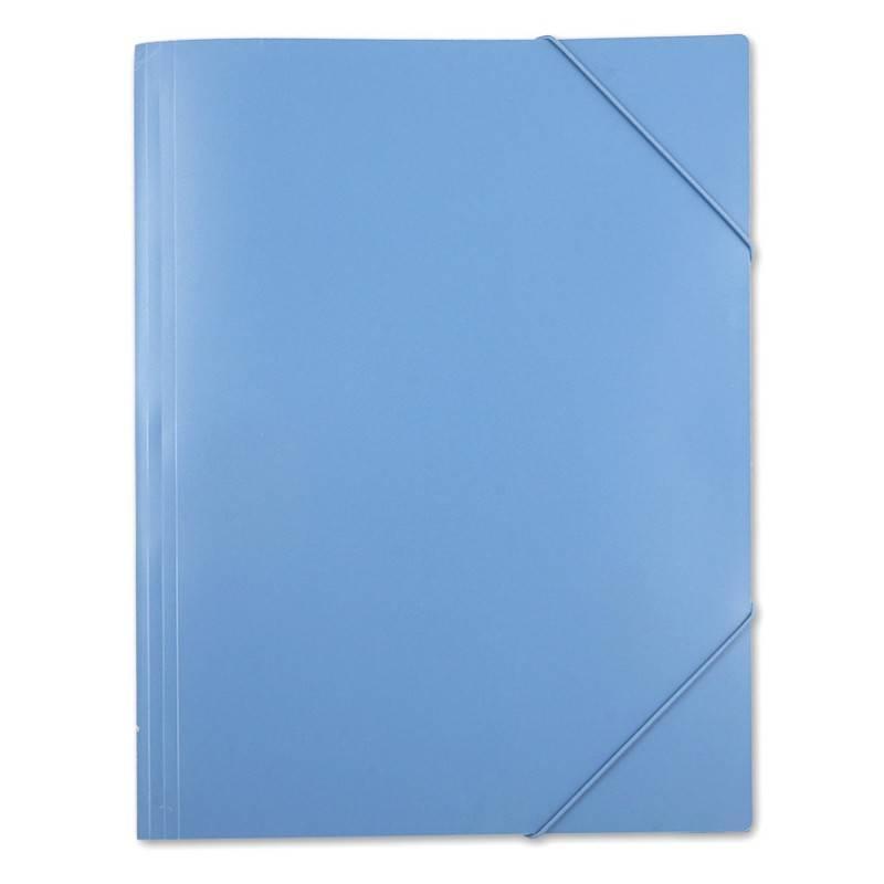 Папка на резинке Бюрократ PRA3blu А3 пластик 0.5мм синий - фото 3