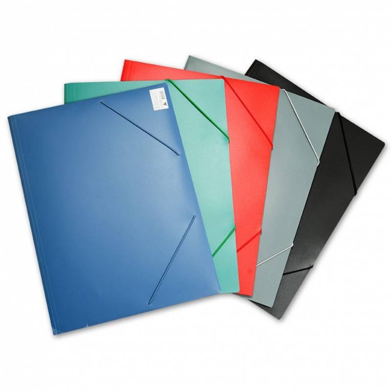 Папка на резинке Бюрократ PRA3grey А3 пластик 0.5мм серый - фото 1