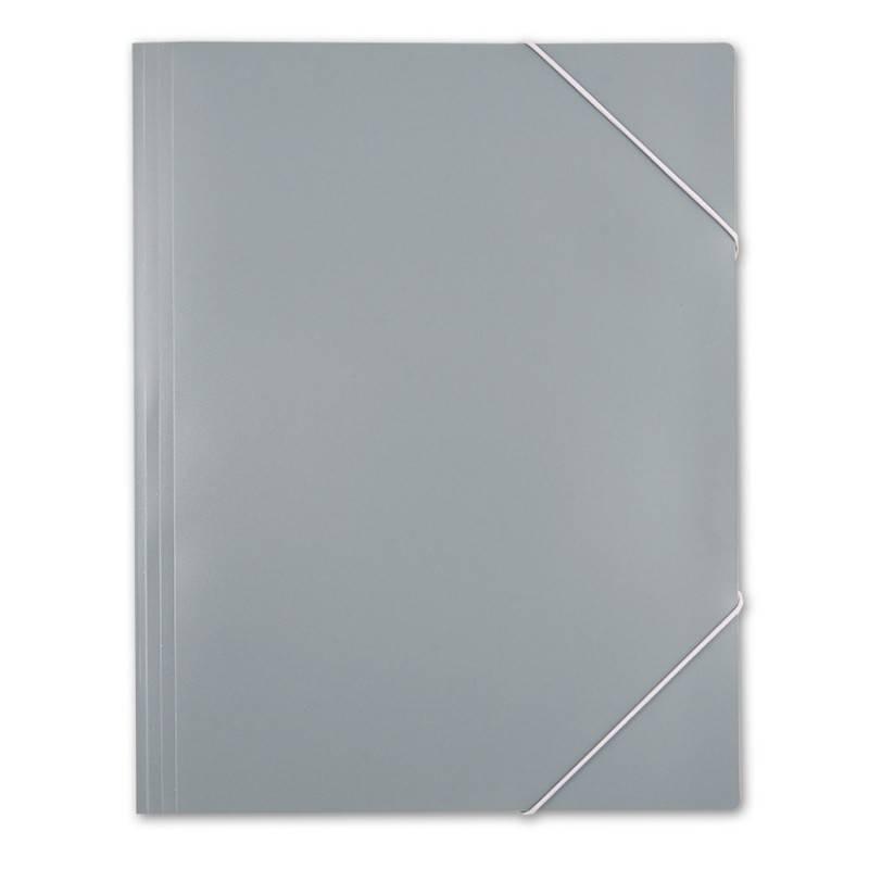 Папка на резинке Бюрократ PRA3grey А3 пластик 0.5мм серый - фото 5