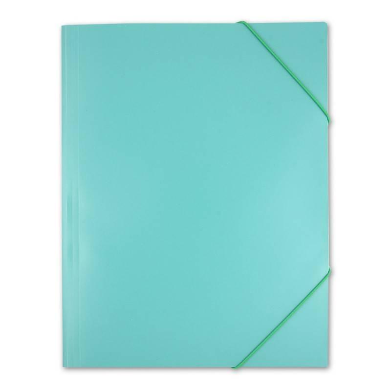 Папка    на    резинке    Бюрократ    PRA3grn    А3    пластик    0.5мм    зеленый - фото 6