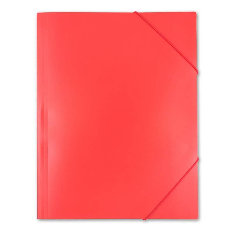 Папка на резинке Бюрократ PRA3red А3 пластик 0.5мм красный - фото 7