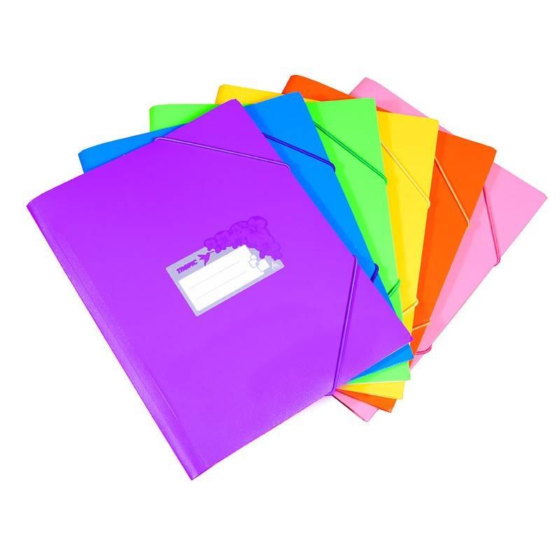 Папка на резинке Бюрократ TROPIC TR510 А4 пластик 0.5мм корешок 30мм ассорти - фото 1