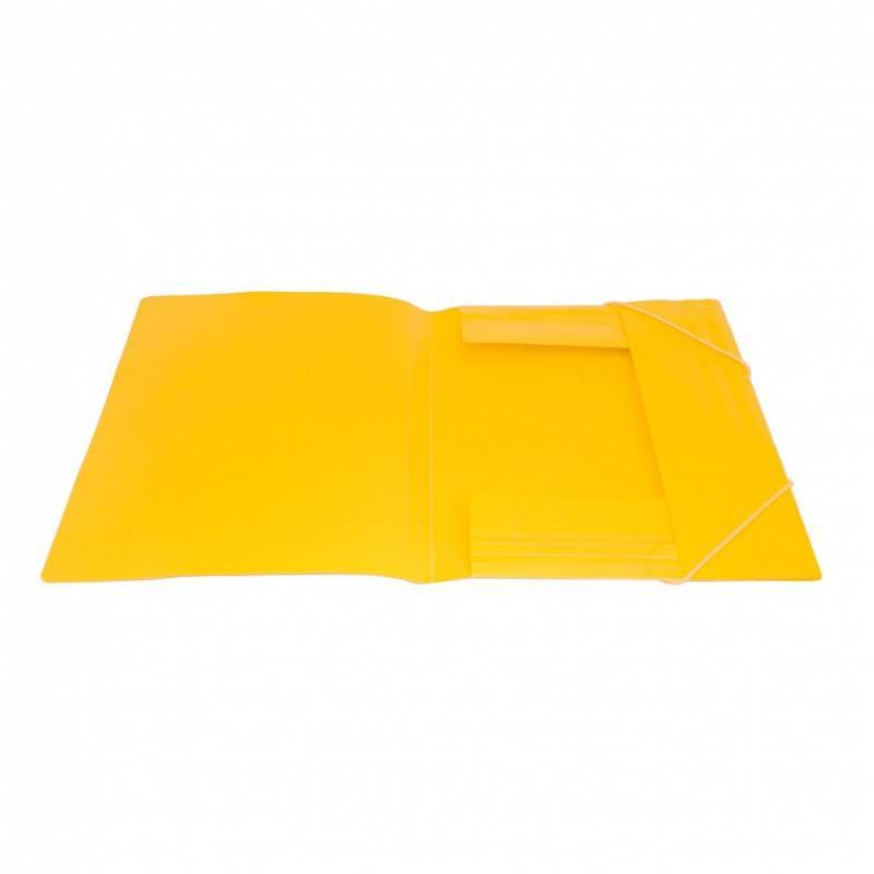Папка на резинке Бюрократ TROPIC TR510 А4 пластик 0.5мм корешок 30мм ассорти - фото 2
