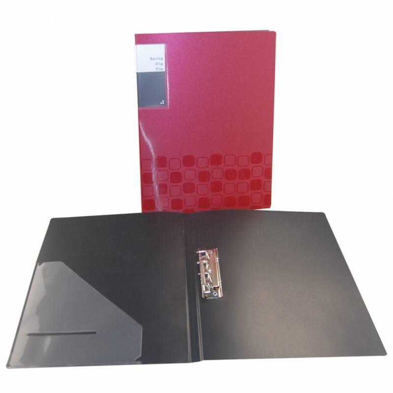 Папка с метал. зажимом Бюрократ CONCEPT CON06C А4 пластик 0.6мм ассорти - фото 1