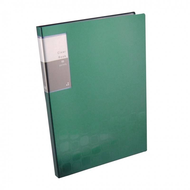 Папка с 10 прозрач. вкладышами Бюрократ CONCEPT CON10 А4 пластик 0.4мм ассорти - фото 1