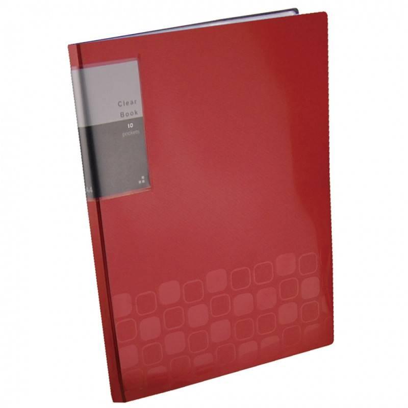 Папка с 10 прозрач. вкладышами Бюрократ CONCEPT CON10 А4 пластик 0.4мм ассорти - фото 2