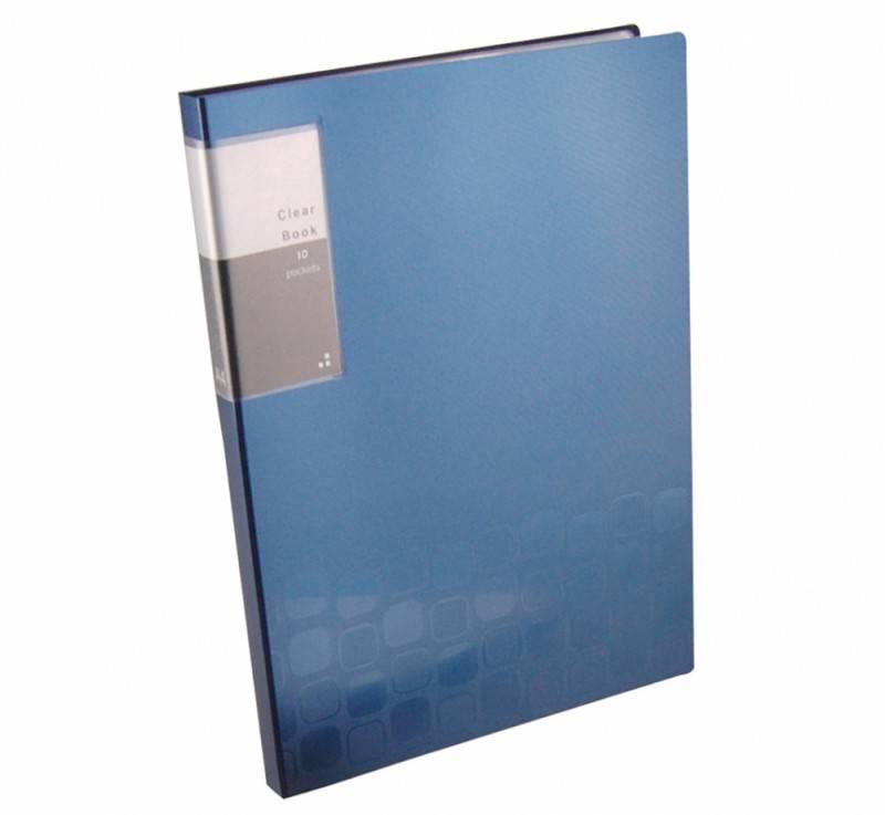 Папка с 10 прозрач. вкладышами Бюрократ CONCEPT CON10 А4 пластик 0.4мм ассорти - фото 4
