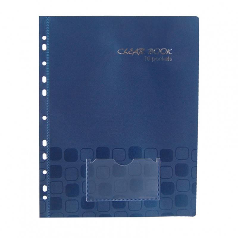 Папка с 10 прозрач. вкладышами Бюрократ CONCEPT CON10st А4 0.2мм в тонк. обложке и с перф. ассорти - фото 1