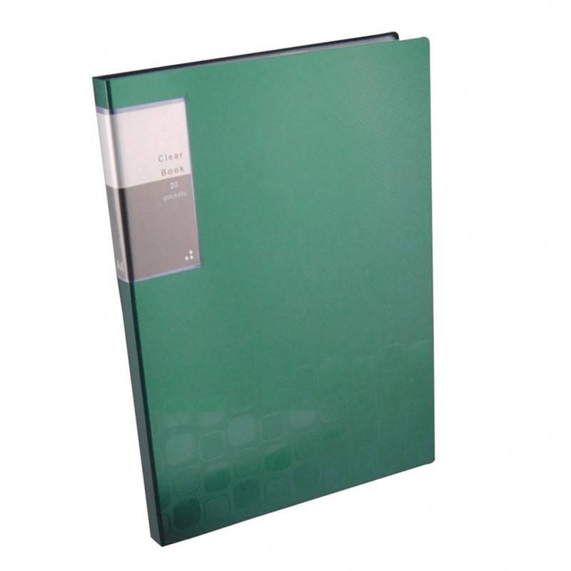 Папка с 20 прозрач. вкладышами Бюрократ CONCEPT CON20 А4 пластик 0.5мм ассорти - фото 1