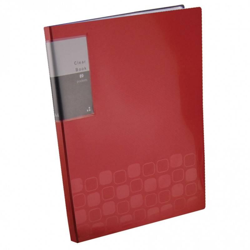 Папка с 20 прозрач. вкладышами Бюрократ CONCEPT CON20 А4 пластик 0.5мм ассорти - фото 2