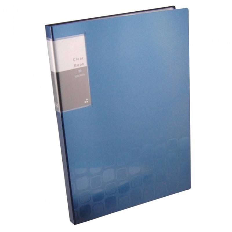 Папка с 20 прозрач. вкладышами Бюрократ CONCEPT CON20 А4 пластик 0.5мм ассорти - фото 4
