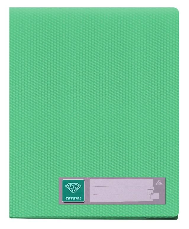 Папка с 100 прозрач. вкладышами Бюрократ CRYSTAL CR100grn А4 пластик 0.7мм зеленый - фото 1