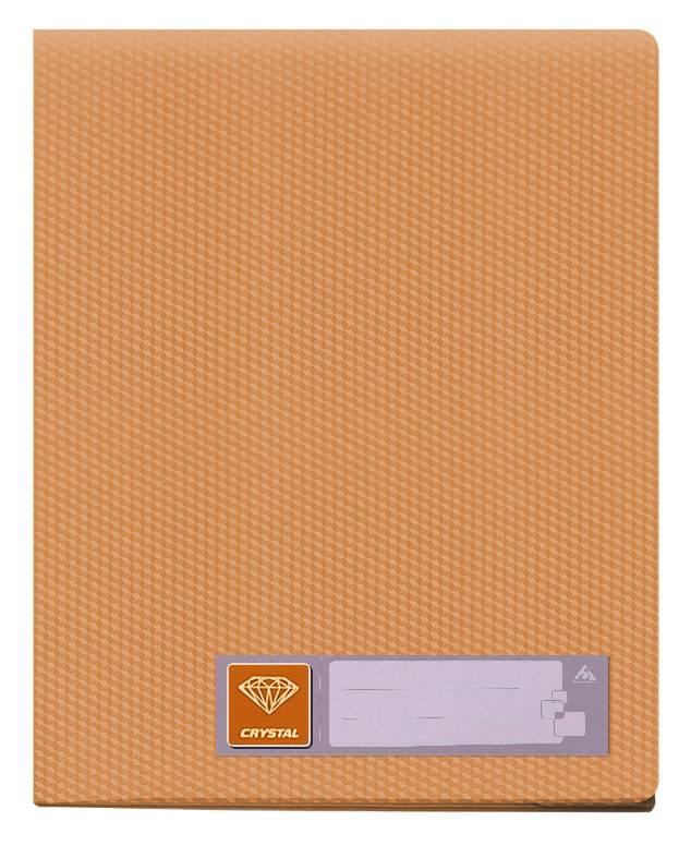 Папка с 100 прозрач. вкладышами Бюрократ CRYSTAL CR100or А4 пластик 0.7мм оранжевый - фото 1