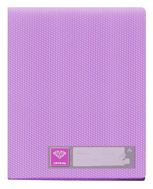 Папка с 100 прозрач. вкладышами Бюрократ CRYSTAL CR100vio А4 пластик 0.7мм фиолетовый - фото 1