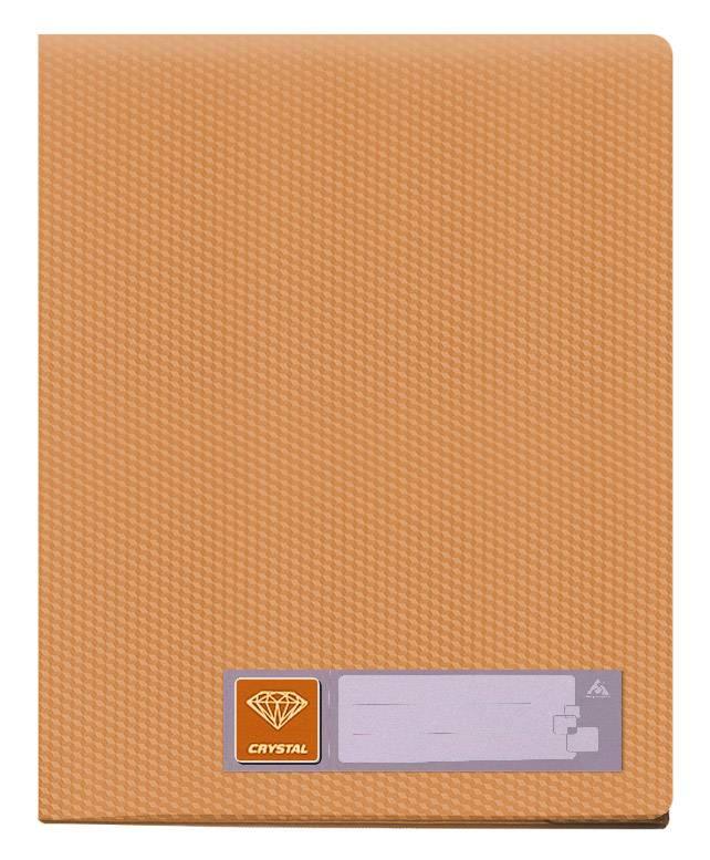 Папка с 10 прозрач. вкладышами Бюрократ CRYSTAL CR10or А4 пластик 0.5мм оранжевый - фото 1