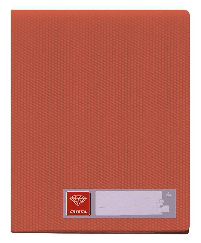 Папка с 10 прозрач. вкладышами Бюрократ CRYSTAL CR10red А4 пластик 0.5мм красный - фото 1