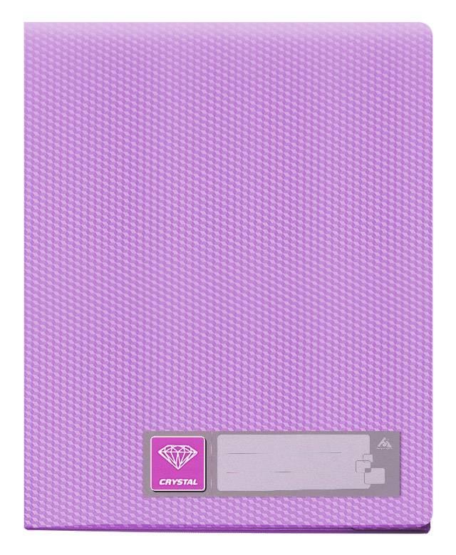 Папка с 10 прозрач. вкладышами Бюрократ CRYSTAL CR10vio А4 пластик 0.5мм фиолетовый - фото 1