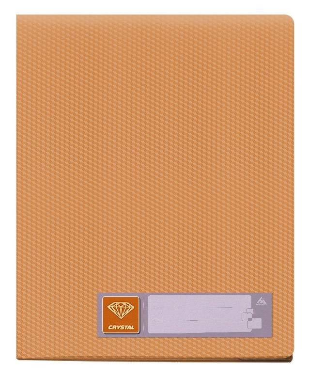 Папка с 40 прозрач. вкладышами Бюрократ CRYSTAL CR40or А4 пластик 0.5мм оранжевый - фото 1
