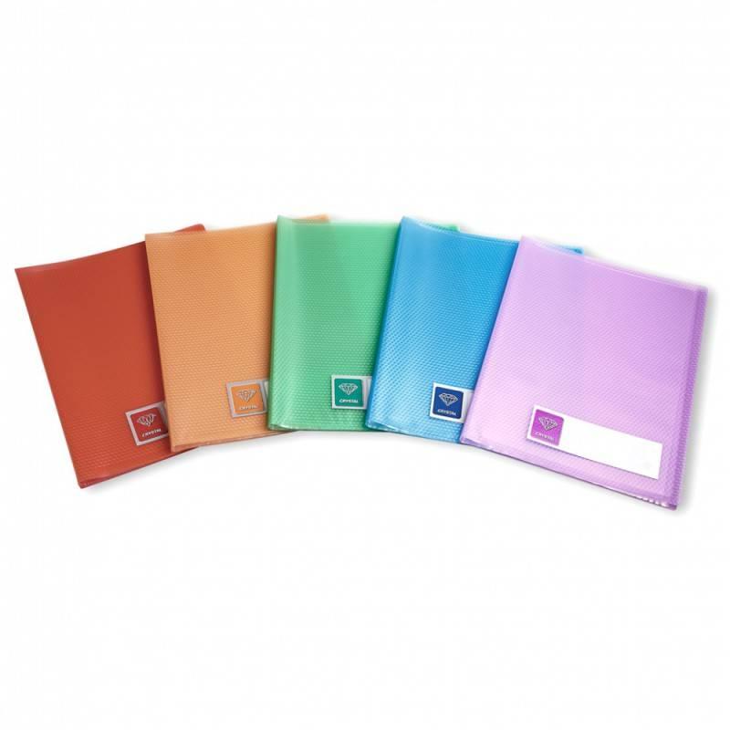 Папка с 40 прозрач. вкладышами Бюрократ CRYSTAL CR40vio А4 пластик 0.5мм фиолетовый - фото 2