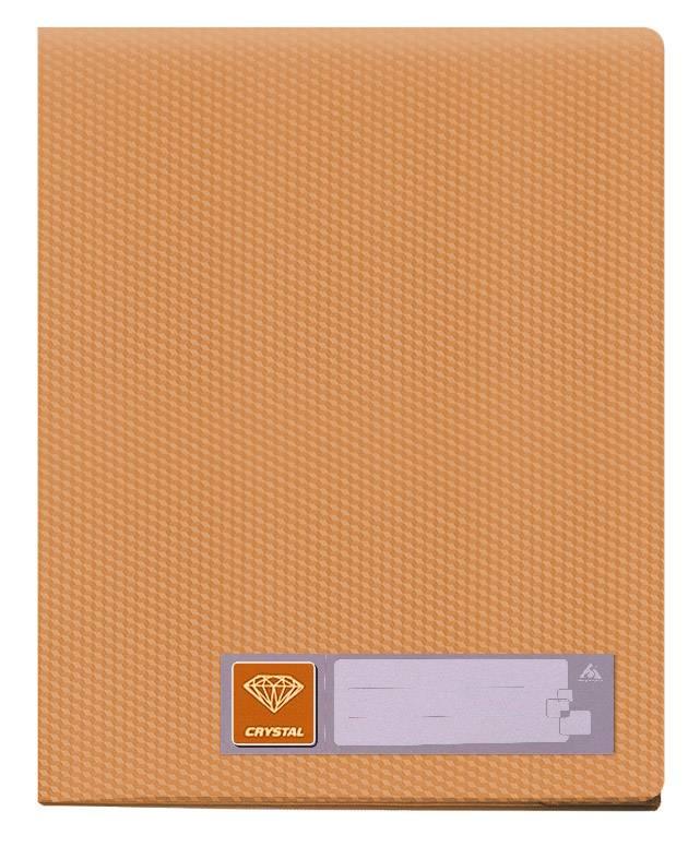 Папка с 60 прозрач. вкладышами Бюрократ CRYSTAL CR60or А4 пластик 0.7мм оранжевый - фото 1