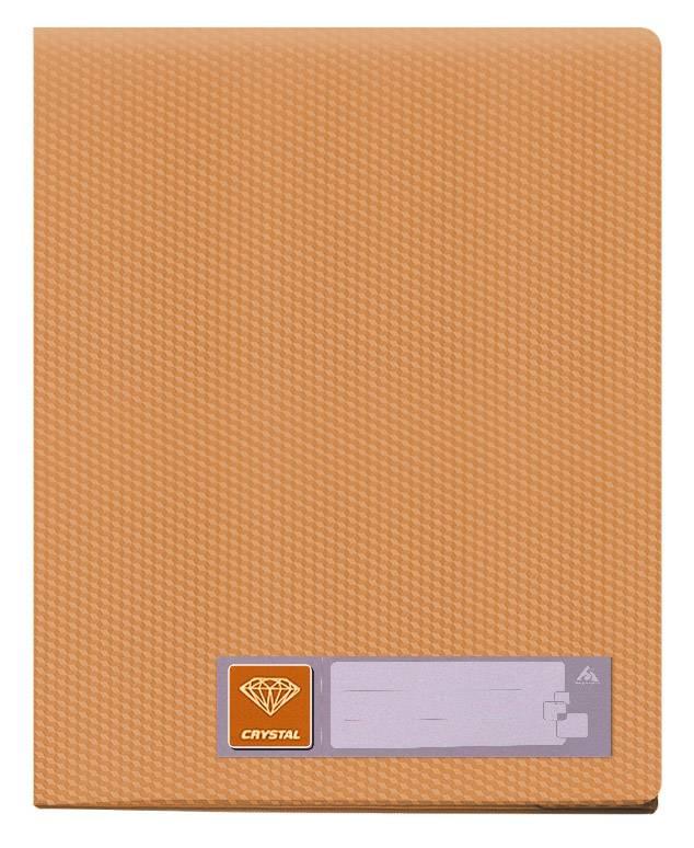 Папка с 80 прозрач. вкладышами Бюрократ CRYSTAL CR80or А4 пластик 0.7мм оранжевый - фото 1