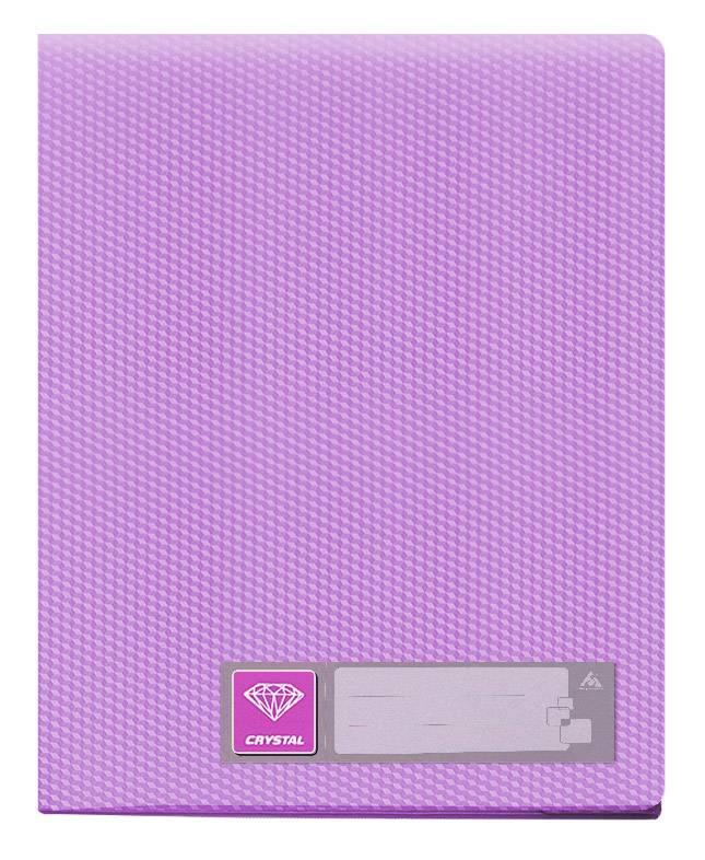 Папка с 80 прозрач. вкладышами Бюрократ CRYSTAL CR80vio А4 пластик 0.7мм фиолетовый - фото 1