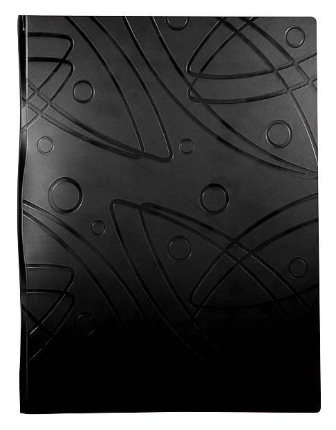 Папка с 10 прозрач. вкладышами Бюрократ GALAXY GA10blck А4 пластик 0.7мм черный - фото 1