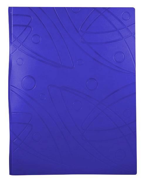 Папка с 10 прозрач. вкладышами Бюрократ GALAXY GA10blue А4 пластик 0.7мм синий - фото 1