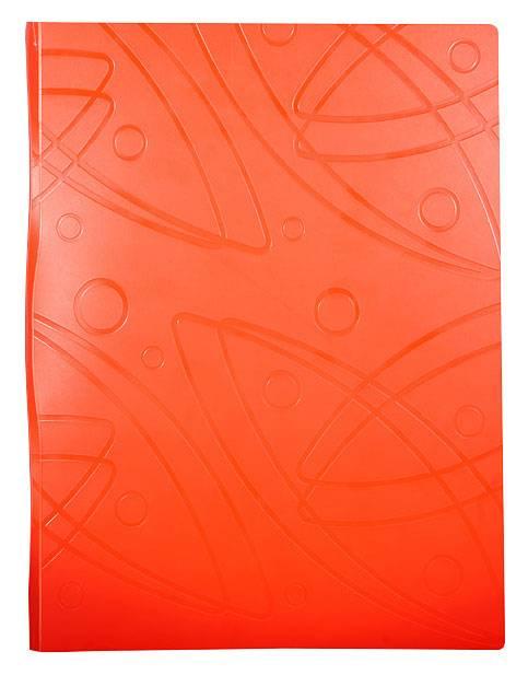 Папка с 10 прозрач. вкладышами Бюрократ GALAXY GA10or А4 пластик 0.7мм оранжевый - фото 1