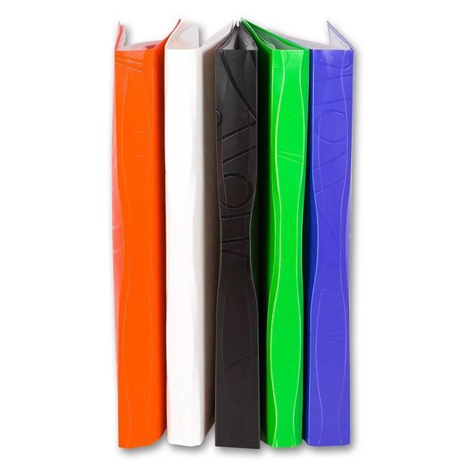 Папка с 10 прозрач. вкладышами Бюрократ GALAXY GA10or А4 пластик 0.7мм оранжевый - фото 2