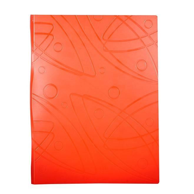 Папка с 10 прозрач. вкладышами Бюрократ GALAXY GA10or А4 пластик 0.7мм оранжевый - фото 3