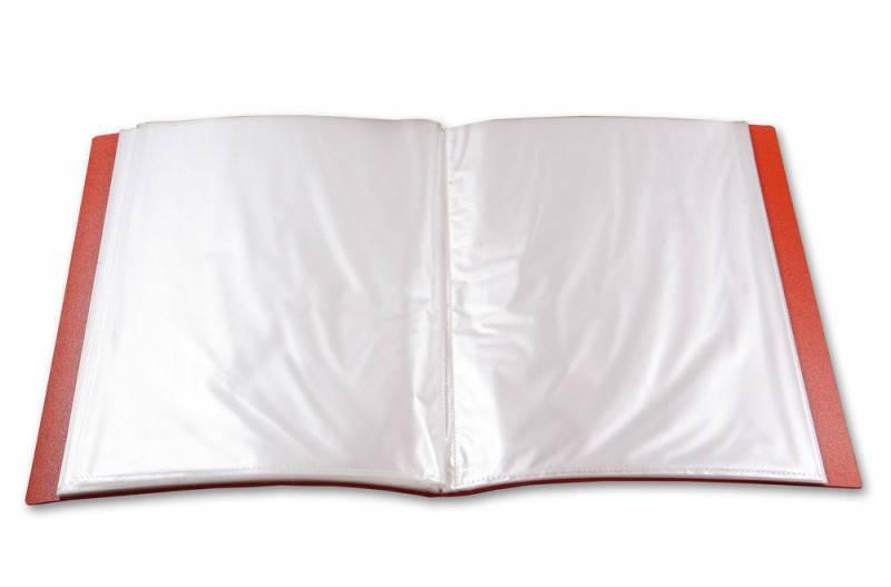 Папка с 10 прозрач. вкладышами Бюрократ GALAXY GA10or А4 пластик 0.7мм оранжевый - фото 4