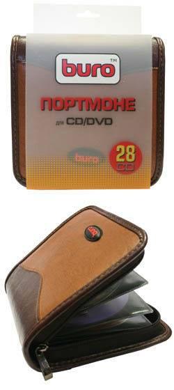 Портмоне для дисков Buro BU-SPU3228 для 28 CD/DVD 163х166х53мм - фото 1