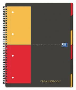 Тетрадь Oxford International ORGANIZERBOOK A4+ черный/оранжевый/красный (100102777)